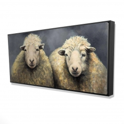 Framed 24 x 48 - 3D - Wool sheeps