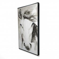 Framed 24 x 48 - 3D - Beautiful abstract horse
