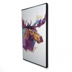 Framed 24 x 48 - 3D - Abstract moose