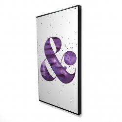 Framed 24 x 48 - 3D - Ampersand purple