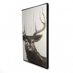 Framed 24 x 48 - 3D - Abstract deer