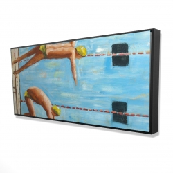 Framed 24 x 48 - 3D - Swimmers