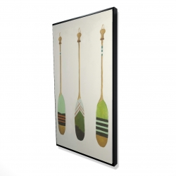 Framed 24 x 48 - 3D - Colorful nautical oars