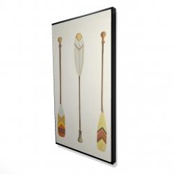 Framed 24 x 48 - 3D - Canoe paddles