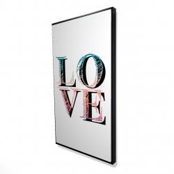 Encadré 24 x 48 - 3D - Amour coloré