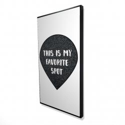 Framed 24 x 48 - 3D - It's my favorite spot