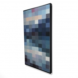 Framed 24 x 48 - 3D - Pixelated mountainous landscape