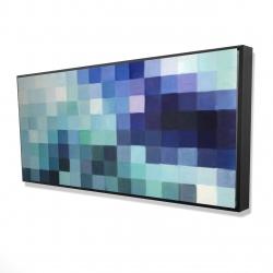 Framed 24 x 48 - 3D - Pixelized landscape