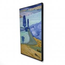 Framed 24 x 48 - 3D - Tuscany field