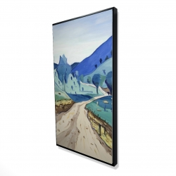 Framed 24 x 48 - 3D - Tuscany trail