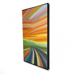 Framed 24 x 48 - 3D - Colorful road