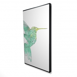 Framed 24 x 48 - 3D - Geometric hummingbird