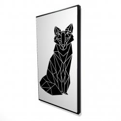 Framed 24 x 48 - 3D - Geometric fox