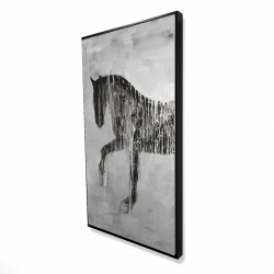 Framed 24 x 48 - 3D - Horse brown silhouette