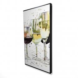 Framed 24 x 48 - 3D - Beautiful wine glasses