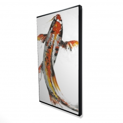 Framed 24 x 48 - 3D - Butterfly koi fish