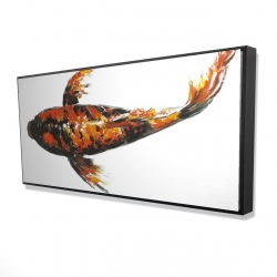 Framed 24 x 48 - 3D - Red butterfly koi fish