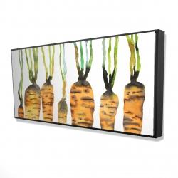 Framed 24 x 48 - 3D - Watercolor carrots