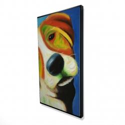 Framed 24 x 48 - 3D - Colorful beagle dog