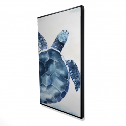Framed 24 x 48 - 3D - Blue turtle