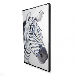 Framed 24 x 48 - 3D - Watercolor zebra