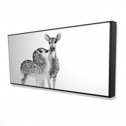 Framed 24 x 48 - 3D - Fawns love