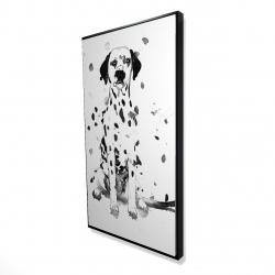 Framed 24 x 48 - 3D - Dalmatian dog