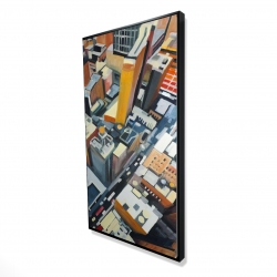 Framed 24 x 48 - 3D - High top view of buildings in new york