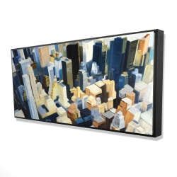 Framed 24 x 48 - 3D - Manhattan view of the empire state building