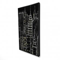 Framed 24 x 48 - 3D - Illustrative dark city