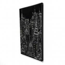 Framed 24 x 48 - 3D - Illustrative city towers