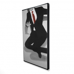 Framed 24 x 48 - 3D - Classical jumping man