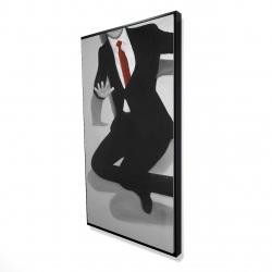 Framed 24 x 48 - 3D - Classical jumping man