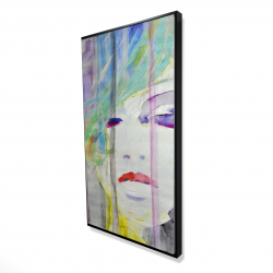 Framed 24 x 48 - 3D - Abstract colorful portrait