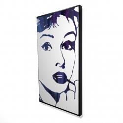 Framed 24 x 48 - 3D - Audrey hepburn: cigarillo