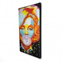 Framed 24 x 48 - 3D - Colorful maryline monroe bubblegum
