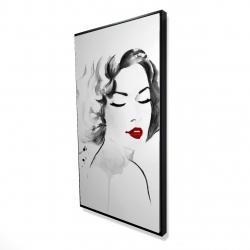 Framed 24 x 48 - 3D - Watercolor woman