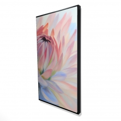 Framed 24 x 48 - 3D - Lotus pastel flower