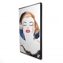 Framed 24 x 48 - 3D - Vintage chic maryline monroe