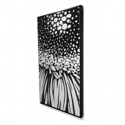 Framed 24 x 48 - 3D - Gerbera flower