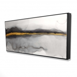 Framed 24 x 48 - 3D - Gold stripe abstract