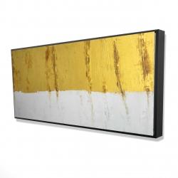 Framed 24 x 48 - 3D - Golden stripe