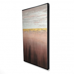 Framed 24 x 48 - 3D - Golden pink