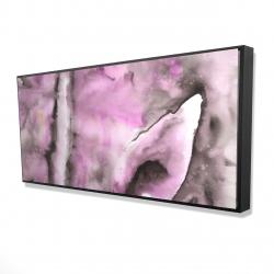 Framed 24 x 48 - 3D - Purple