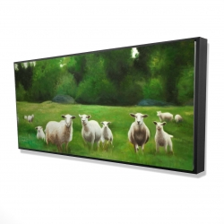 Framed 24 x 48 - 3D - Fields of sheep