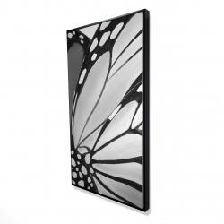 Framed 24 x 48 - 3D - Mornach wings closeup