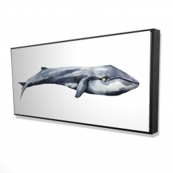 Framed 24 x 48 - 3D - Watercolor whale
