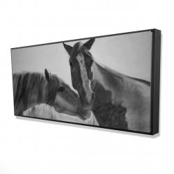 Framed 24 x 48 - 3D - Horses lover