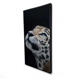 Framed 24 x 48 - 3D - Realistic leopard face