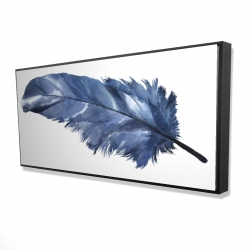 Framed 24 x 48 - 3D - Blue feather